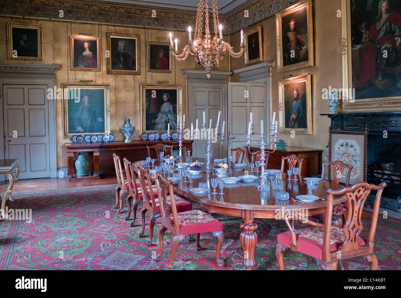 DINING ROOM HOPETOUN HOUSE  EDINBURGH SCOTLAND  UNITED KINGDOM Stock Photo