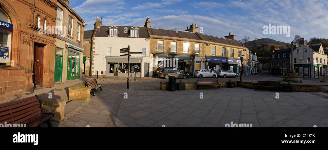 Melrose town square evening light - Stock Image