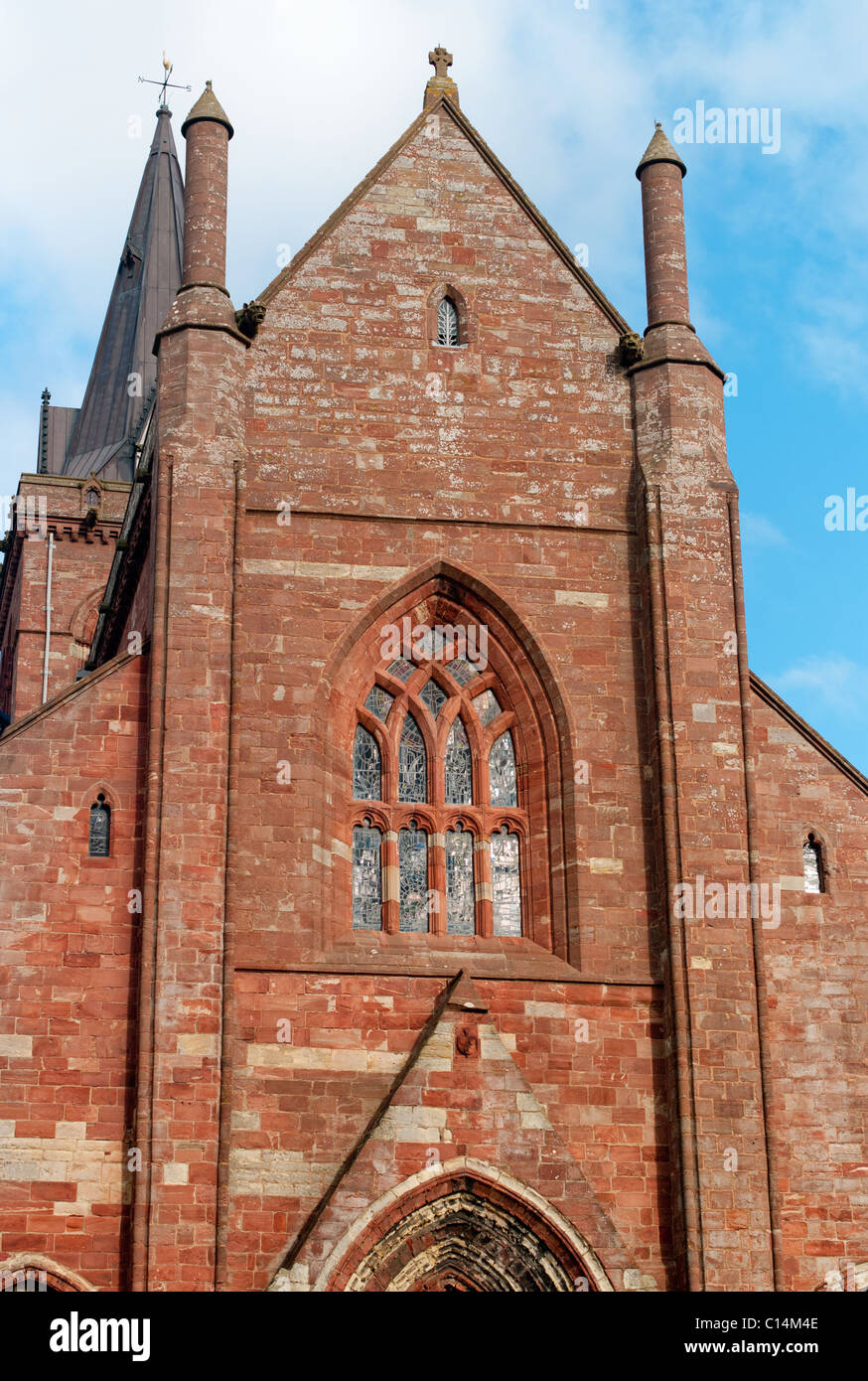 SAINT MAGNUS CATHEDRAL KIRKWALL ORKNEY ISLANDS  SCOTLAND  UNITED KINGDOM - Stock Image