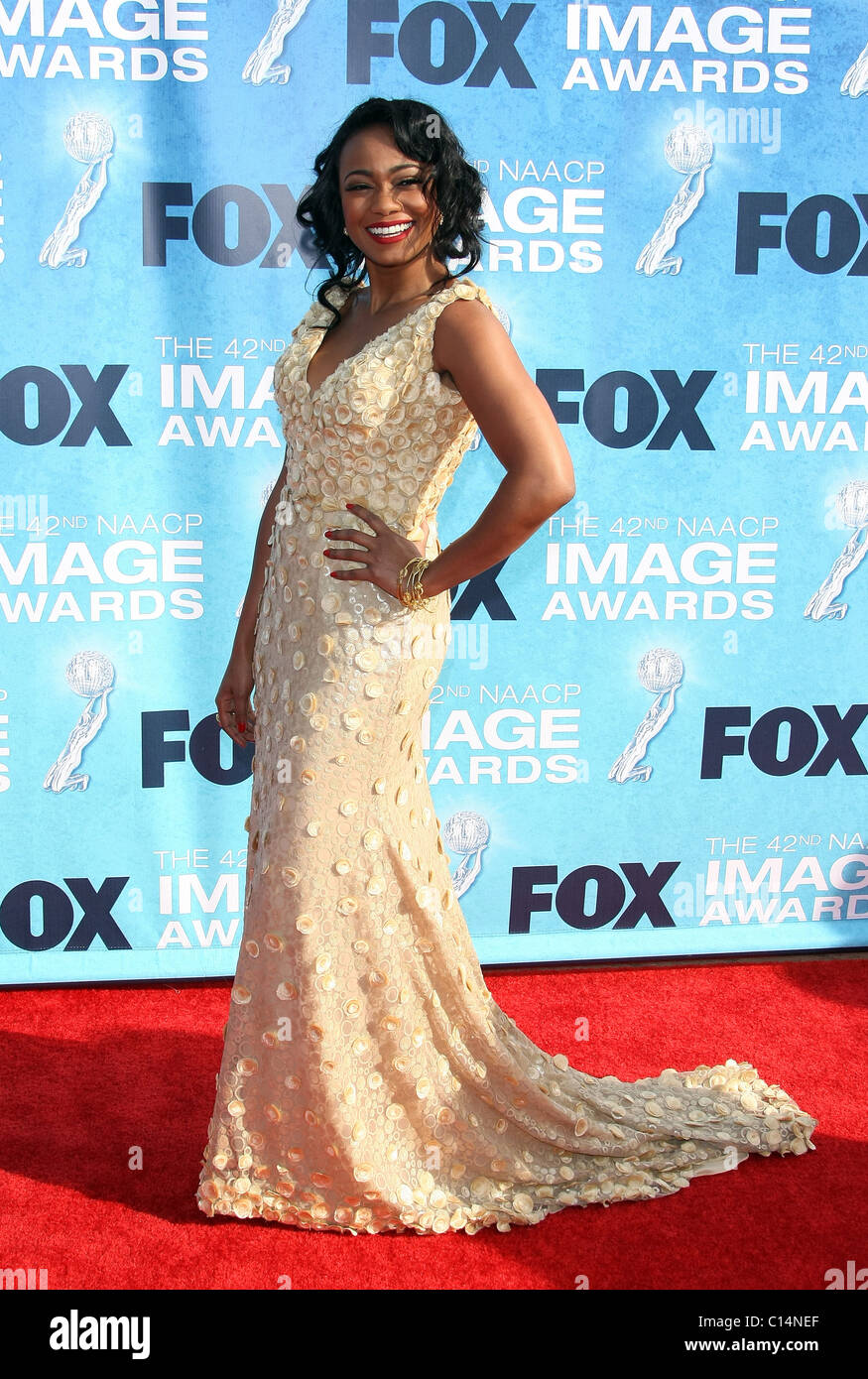 TATYANA ALI 42ND NAACP IMAGE AWARDS ARRIVALS DOWNTOWN LOS ANGELES CALIFORNIA USA 04 March 2011 - Stock Image