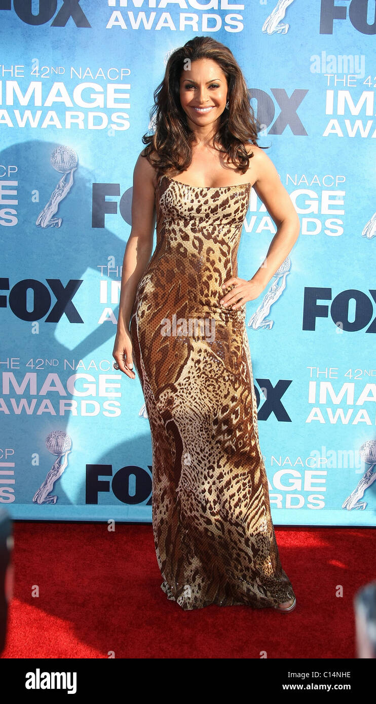 SALLI RICHARDSON 42ND NAACP IMAGE AWARDS ARRIVALS DOWNTOWN LOS ANGELES CALIFORNIA USA 04 March 2011 - Stock Image
