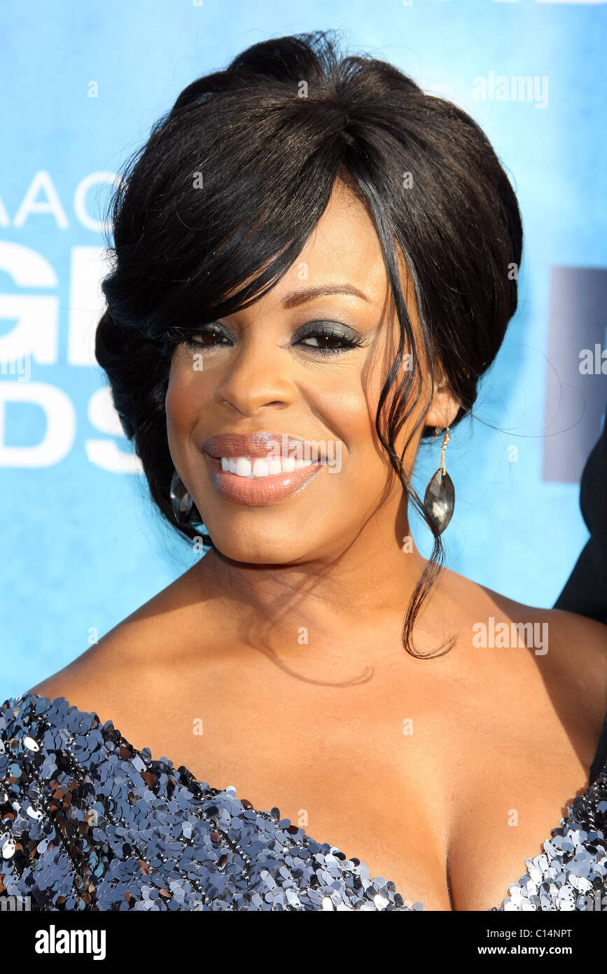 NIECY NASH 42ND NAACP IMAGE AWARDS ARRIVALS DOWNTOWN LOS ANGELES CALIFORNIA USA 04 March 2011 - Stock Image
