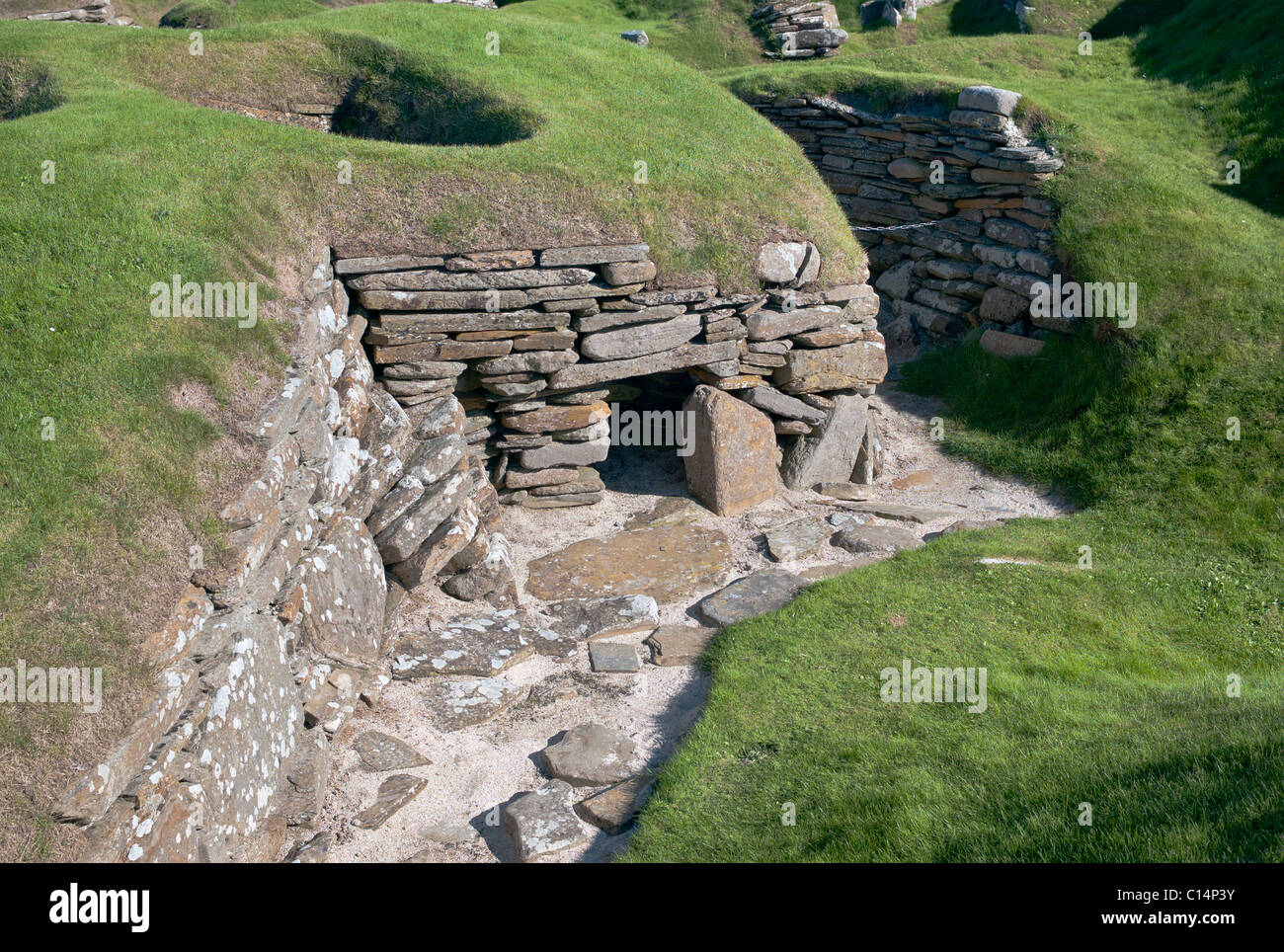 SKARA BRAE ORKNEY ISLANDS SCOTLAND UNITED KINGDOM - Stock Image