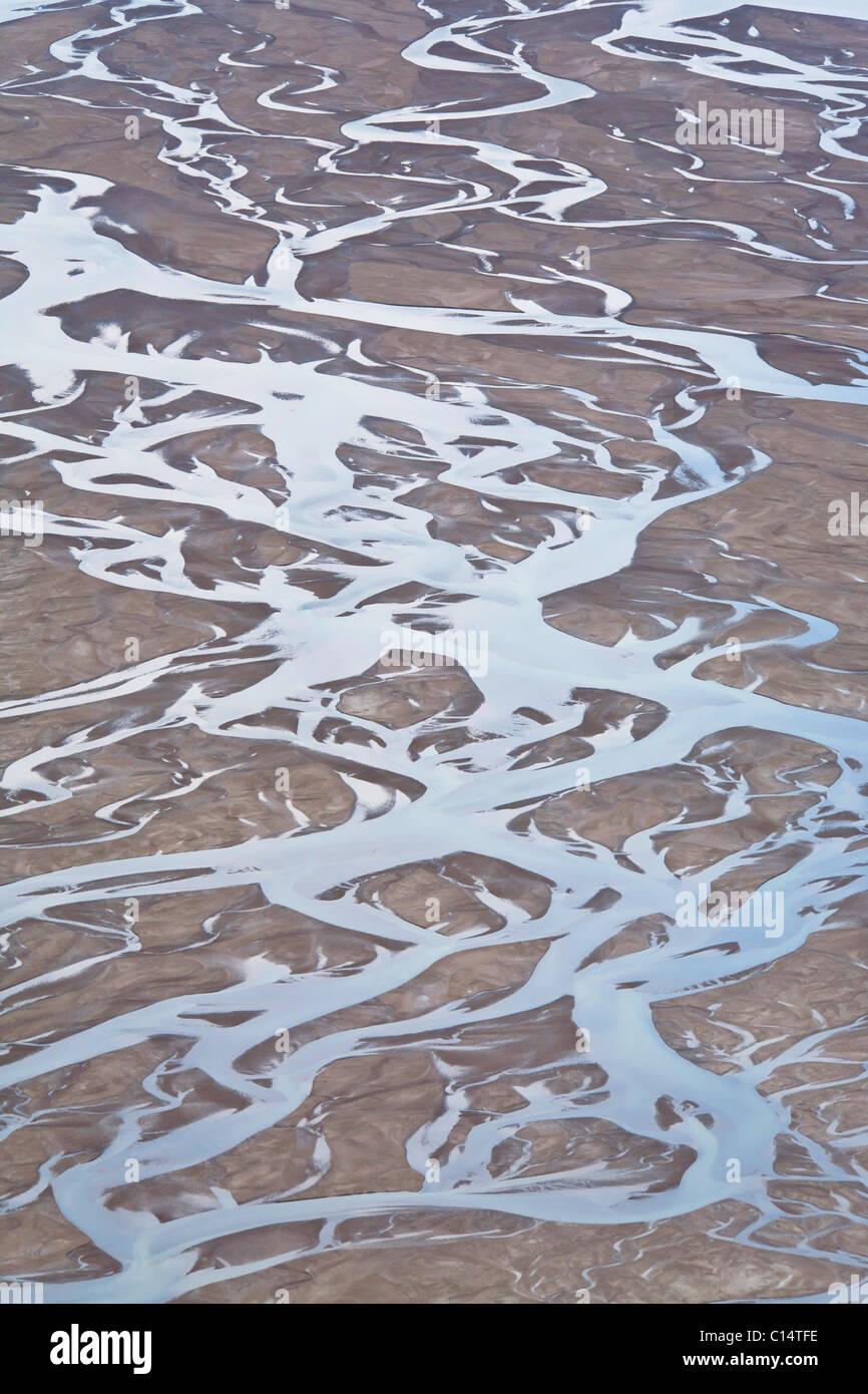 Landscape, Bathurst Bay, Bylot Island, Nunavut, Canada. - Stock Image