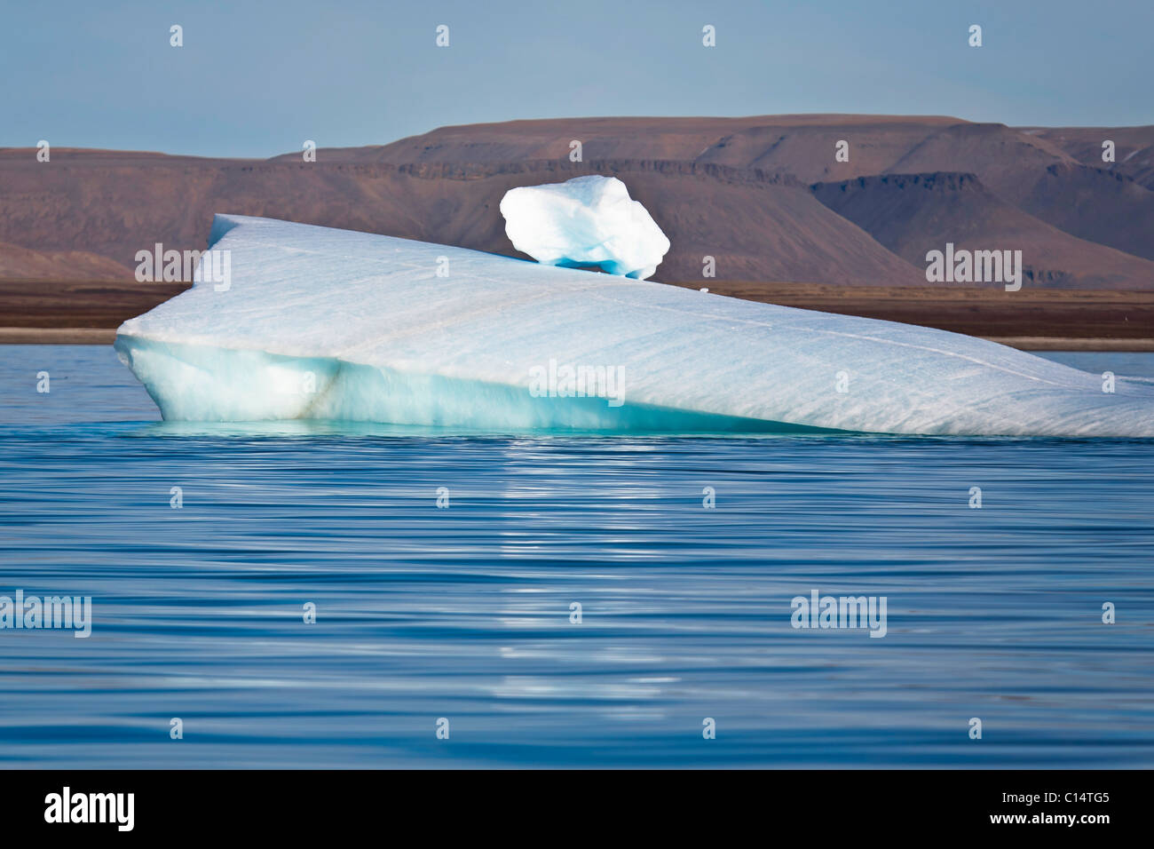 Iceberg, Croker Bay, Devon Island, Qikiqtaaluk Region, Nunavut, Canada. - Stock Image