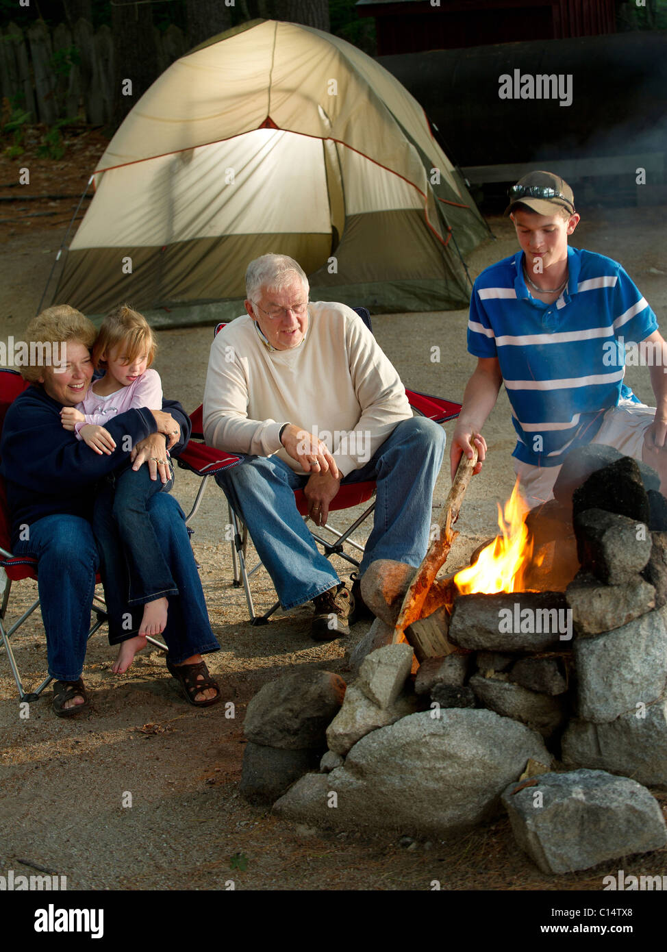 Maine Camp Life - Stock Image