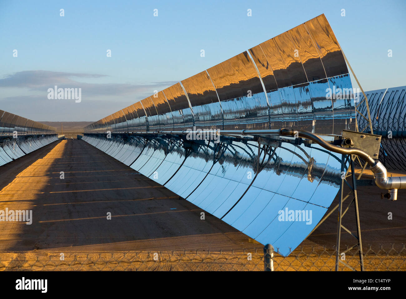 A solar power plant - Stock Image