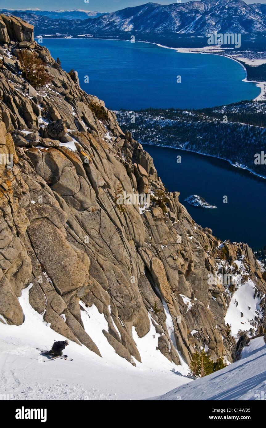 Lake Tahoe Winter Wallpaper Desktop Background: Lake Tahoe In Winter Stock Photos & Lake Tahoe In Winter