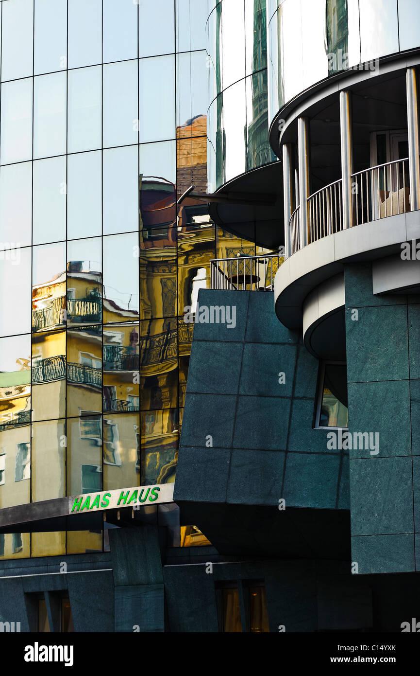 Haas Haus facade Vienna, Austria - Stock Image