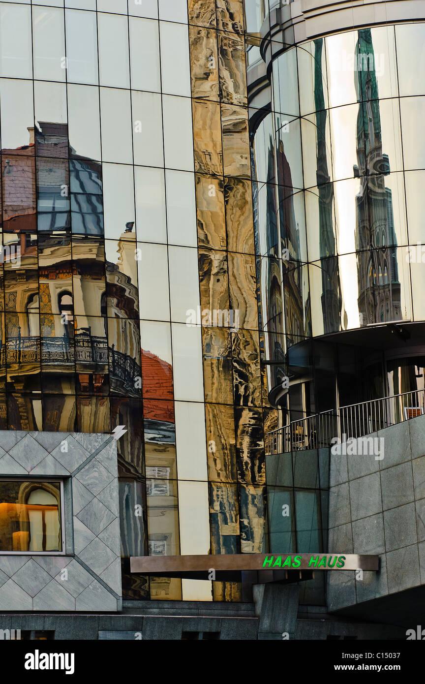 Hans Hollein Haas Haus Vienna Austria - Stock Image