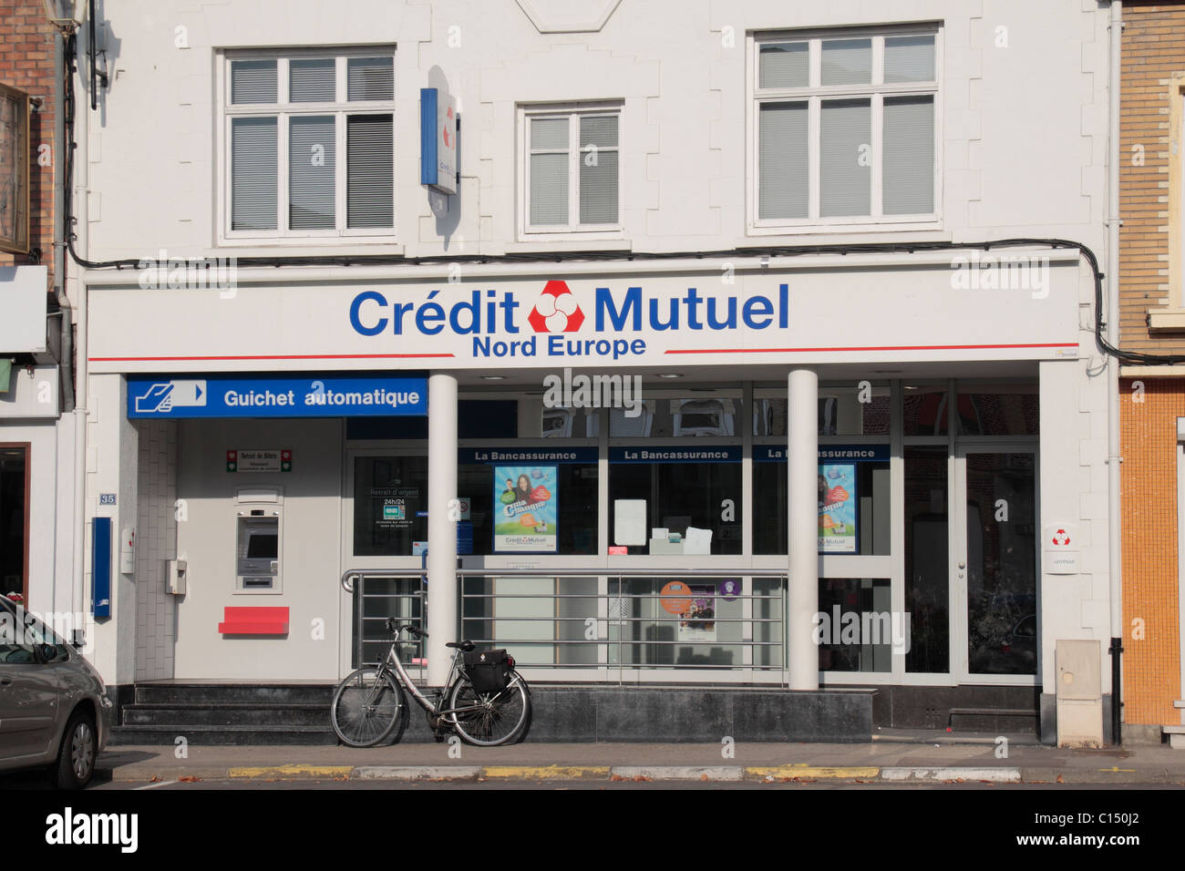 The Credit Mutuel Bank Branch In The Centre Of The Pretty