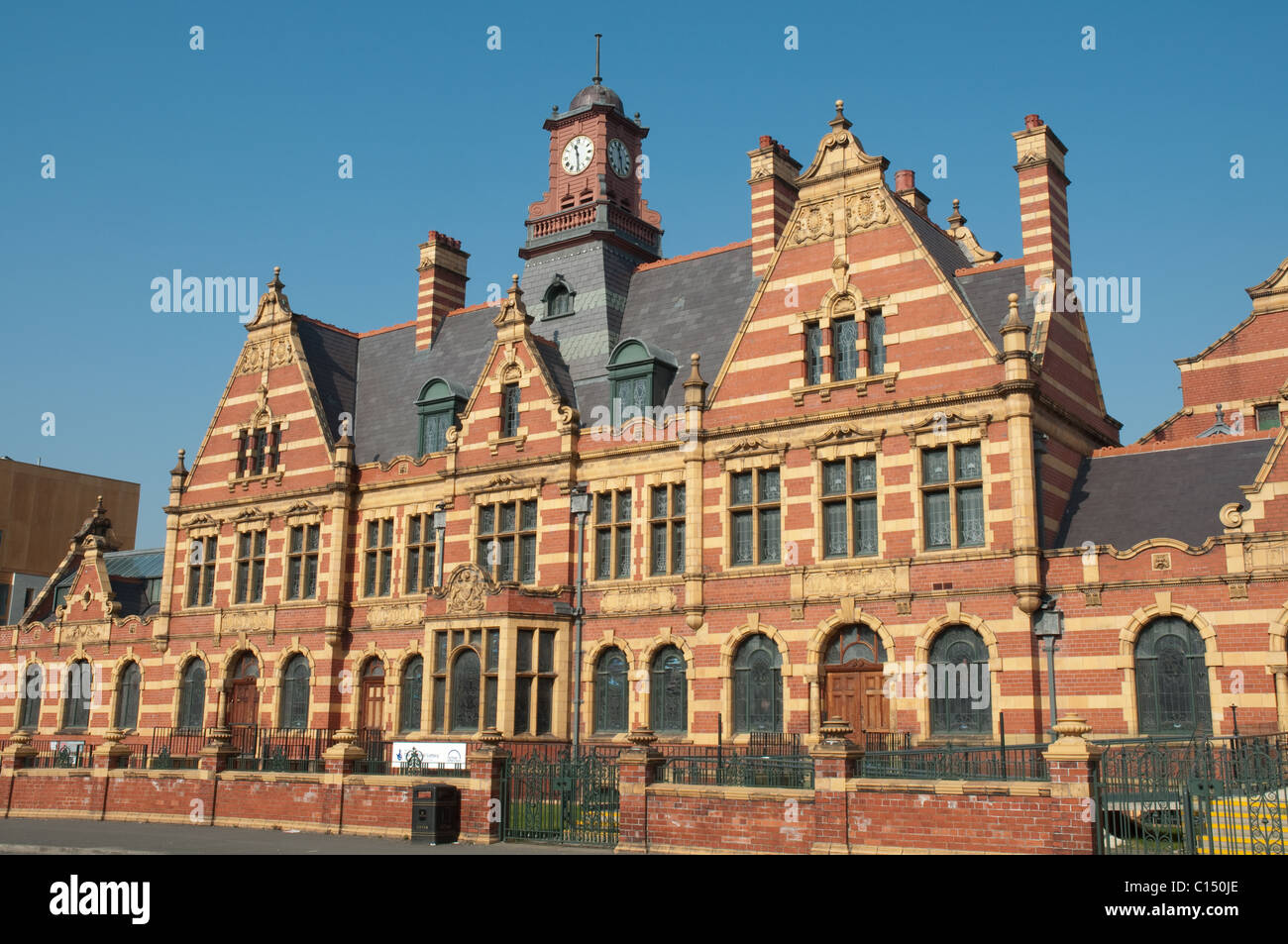 Victoria Baths, Manchester. Opened in 1906, designed by Henry Price.Closed in 1993,Grade II* now being restored. - Stock Image