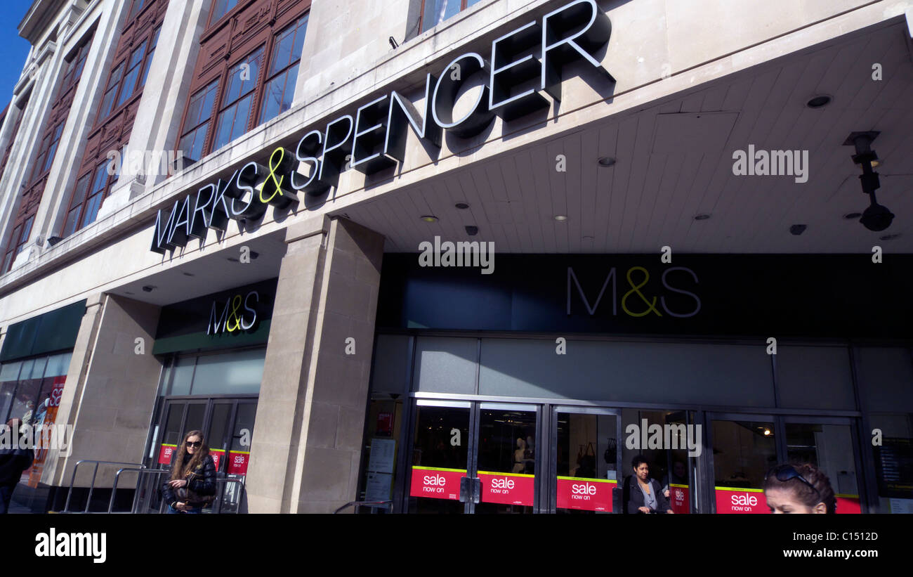 united kingdom central london w1 oxford street marks and spencer store - Stock Image
