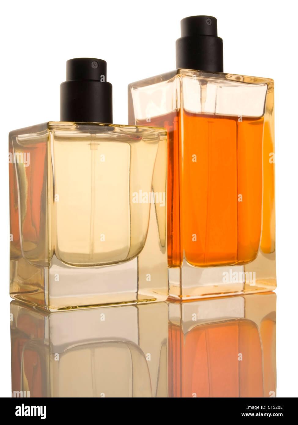 two perfume botles - Stock Image