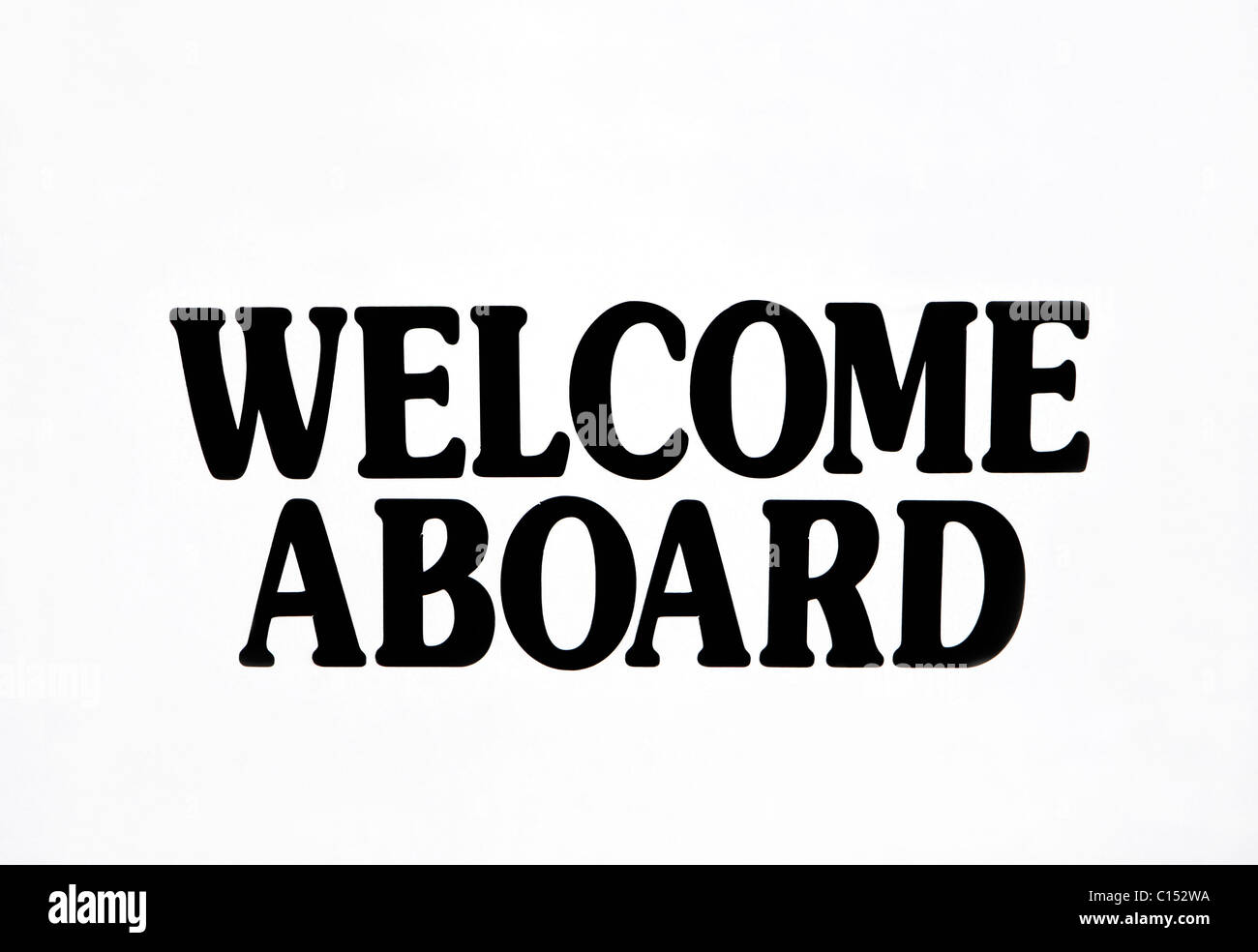 Welcome Aboard Sign - Stock Image