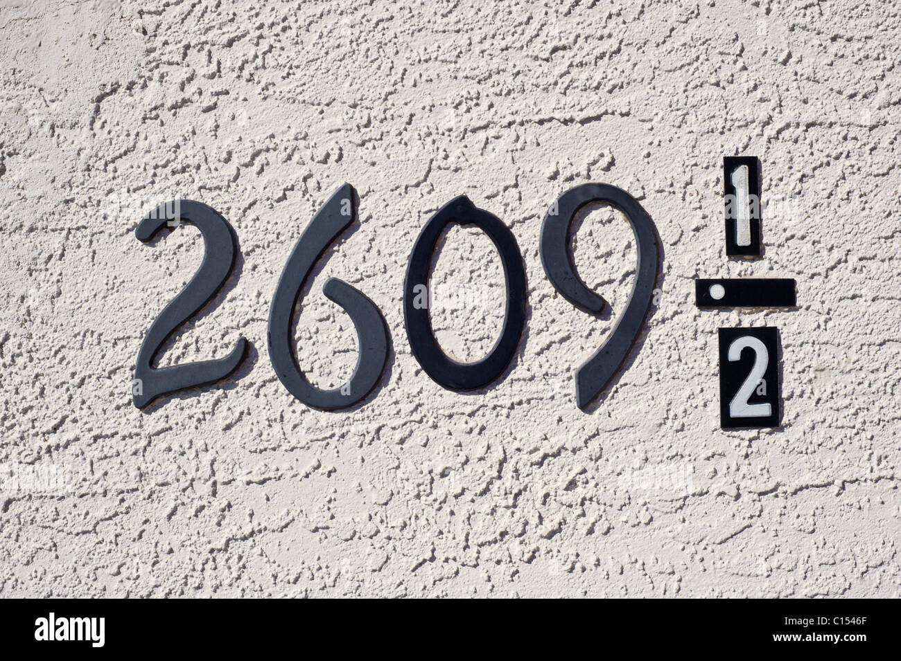 An unusual address in Roswell, New Mexico. - Stock Image