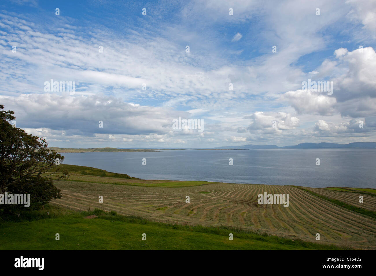 A view across the bay of Muckros in Western Ireland - Stock Image