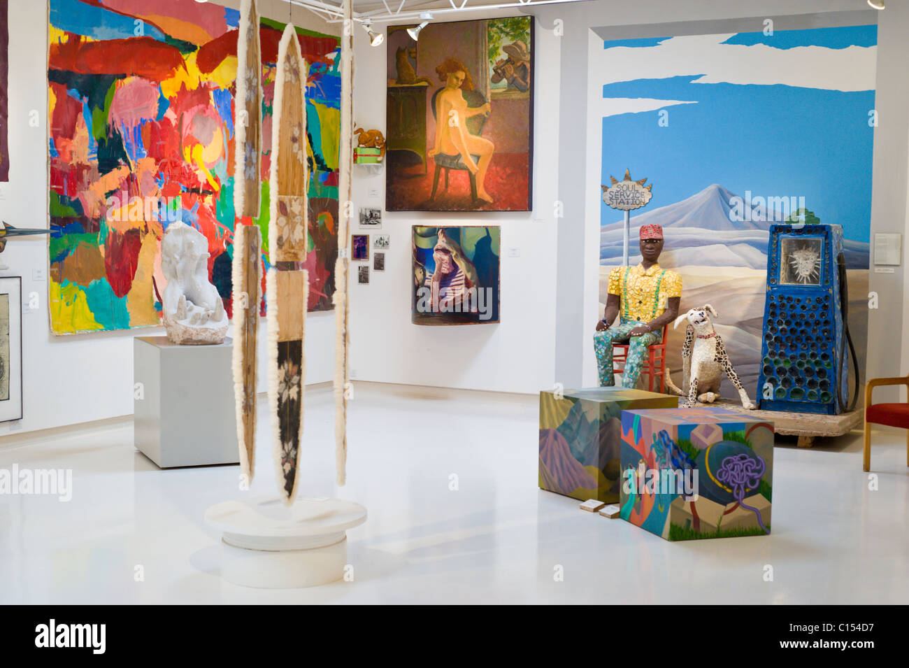 Interior view - Anderson Museum of Contemporary Art in Roswell, New Mexico. - Stock Image