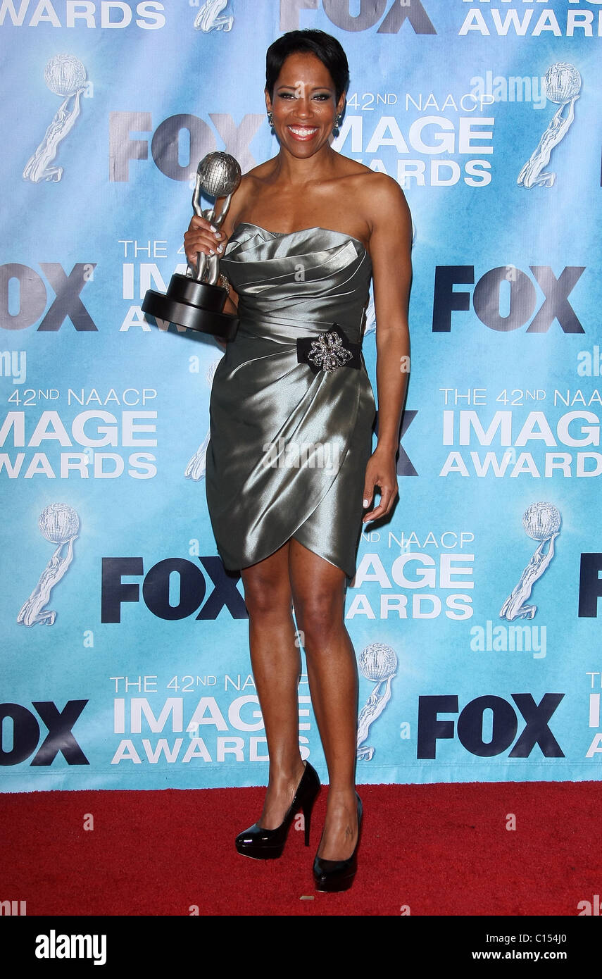 Regina King 42nd Naacp Image Awards Pressroom Downtown Los Angeles