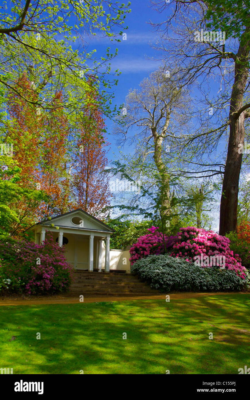Summer House in spring - Stock Image