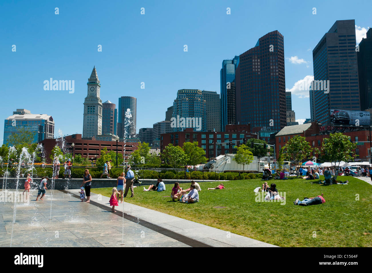 Boston North End - Stock Image