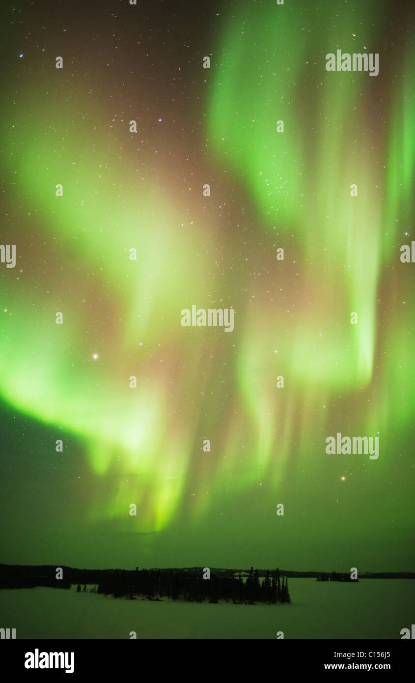 Aurora Borealis or Northern Lights, Northwest Territories, CANADA - Stock Image