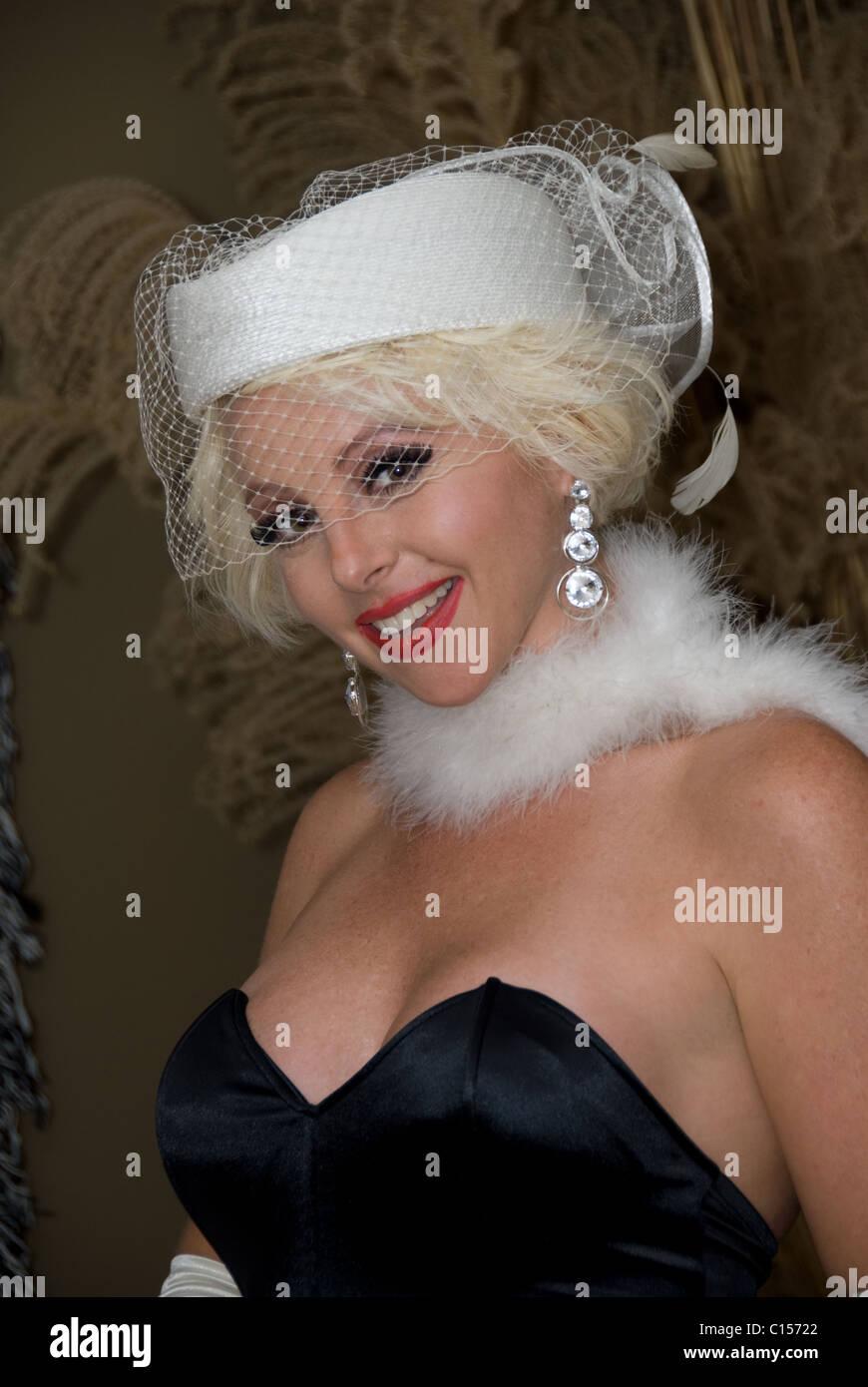 Amy as Marilyn Monroe - Stock Image