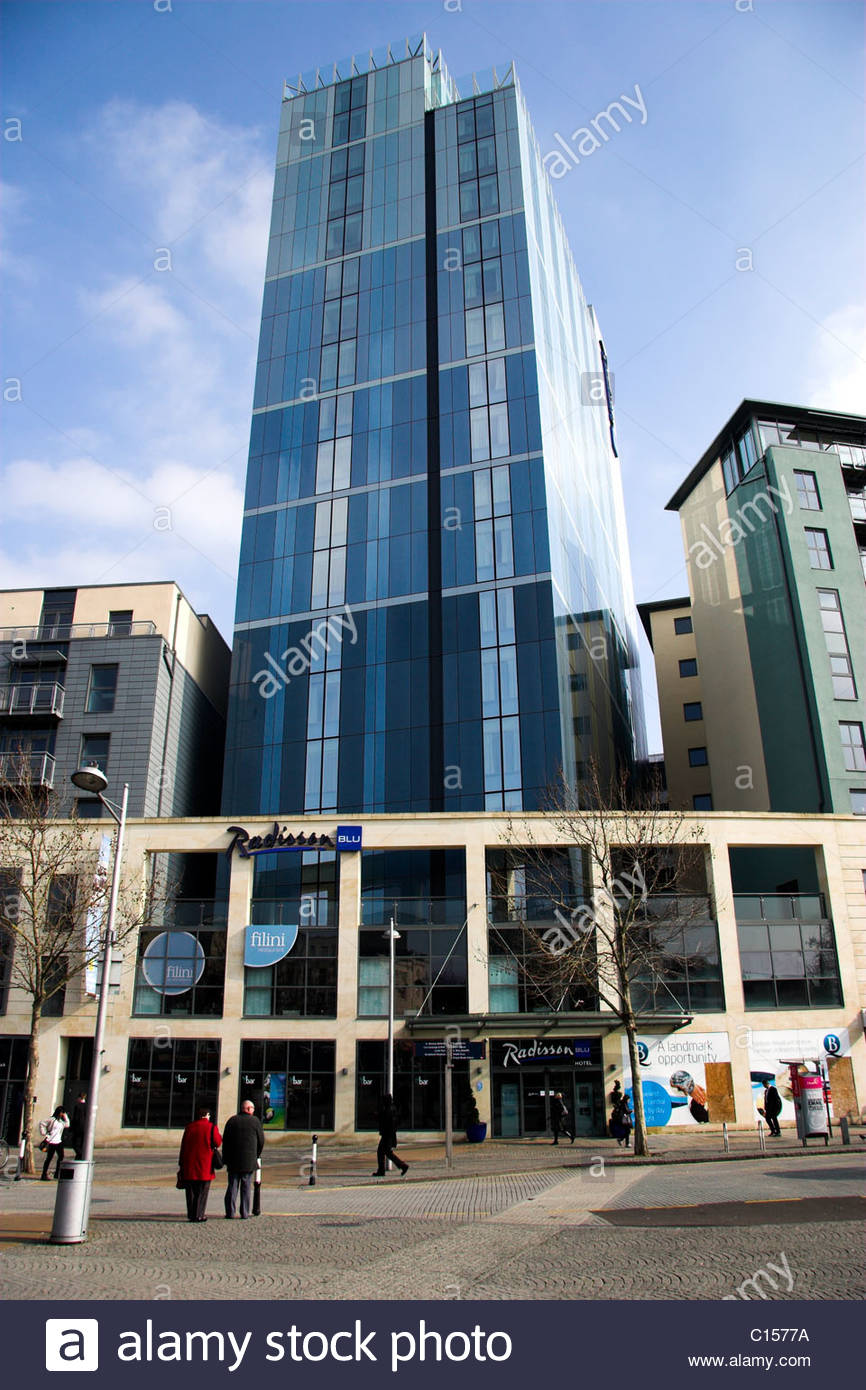 The Radisson Blu hotel in central Bristol, UK. - Stock Image