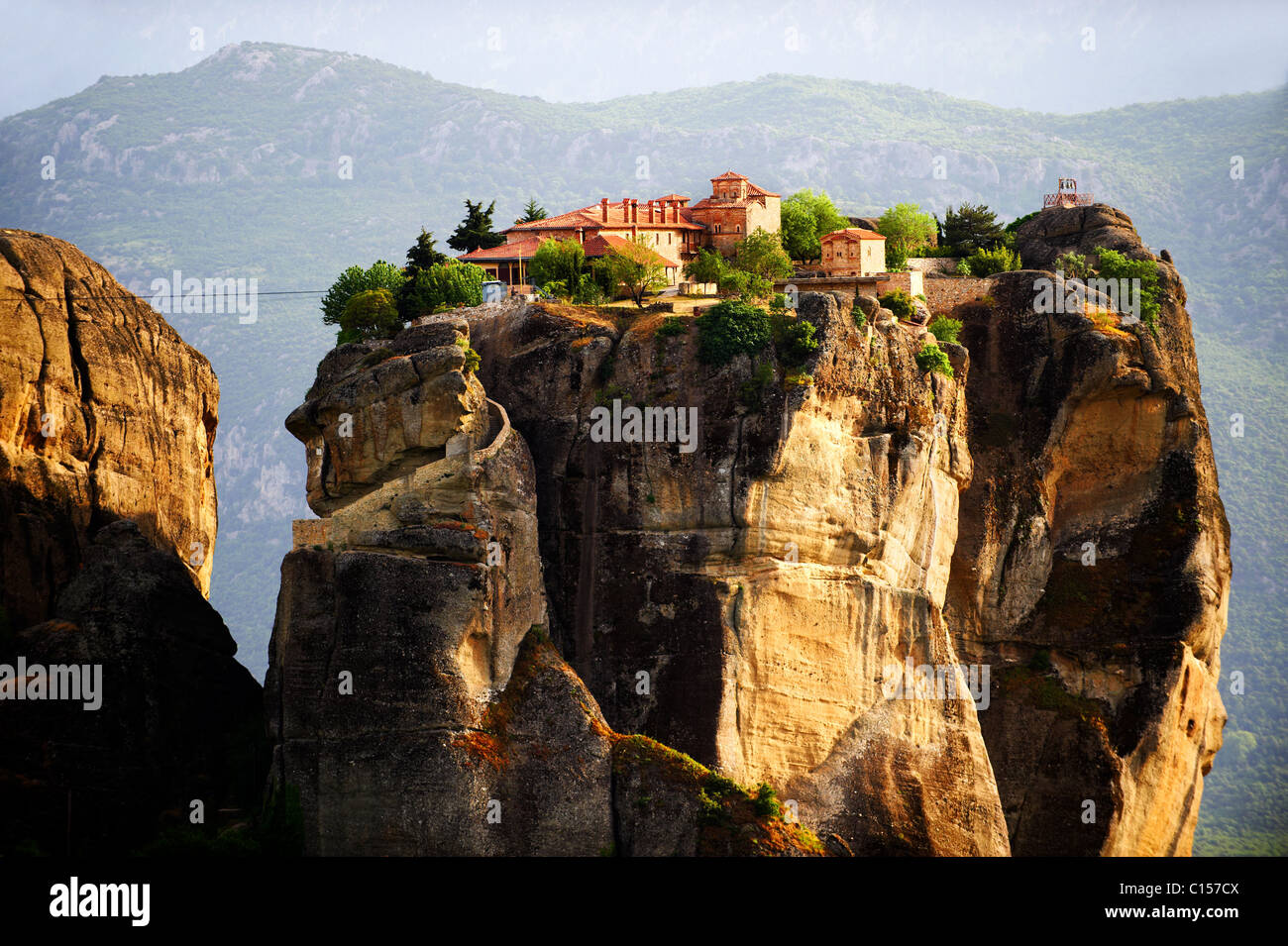 Agia Triada Monastery, Monasteries of Meteora, Thessalia, Greek Mainland, - Stock Image