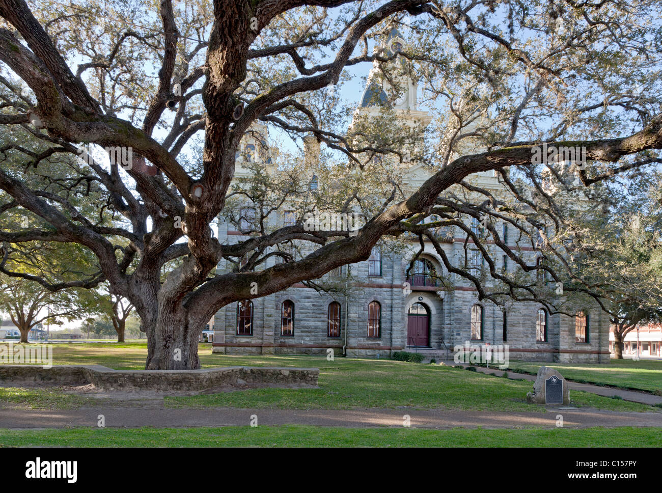 Goliad County Courthouse, Texas - Stock Image