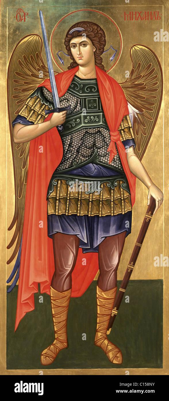Saint Archangel Michael - Stock Image