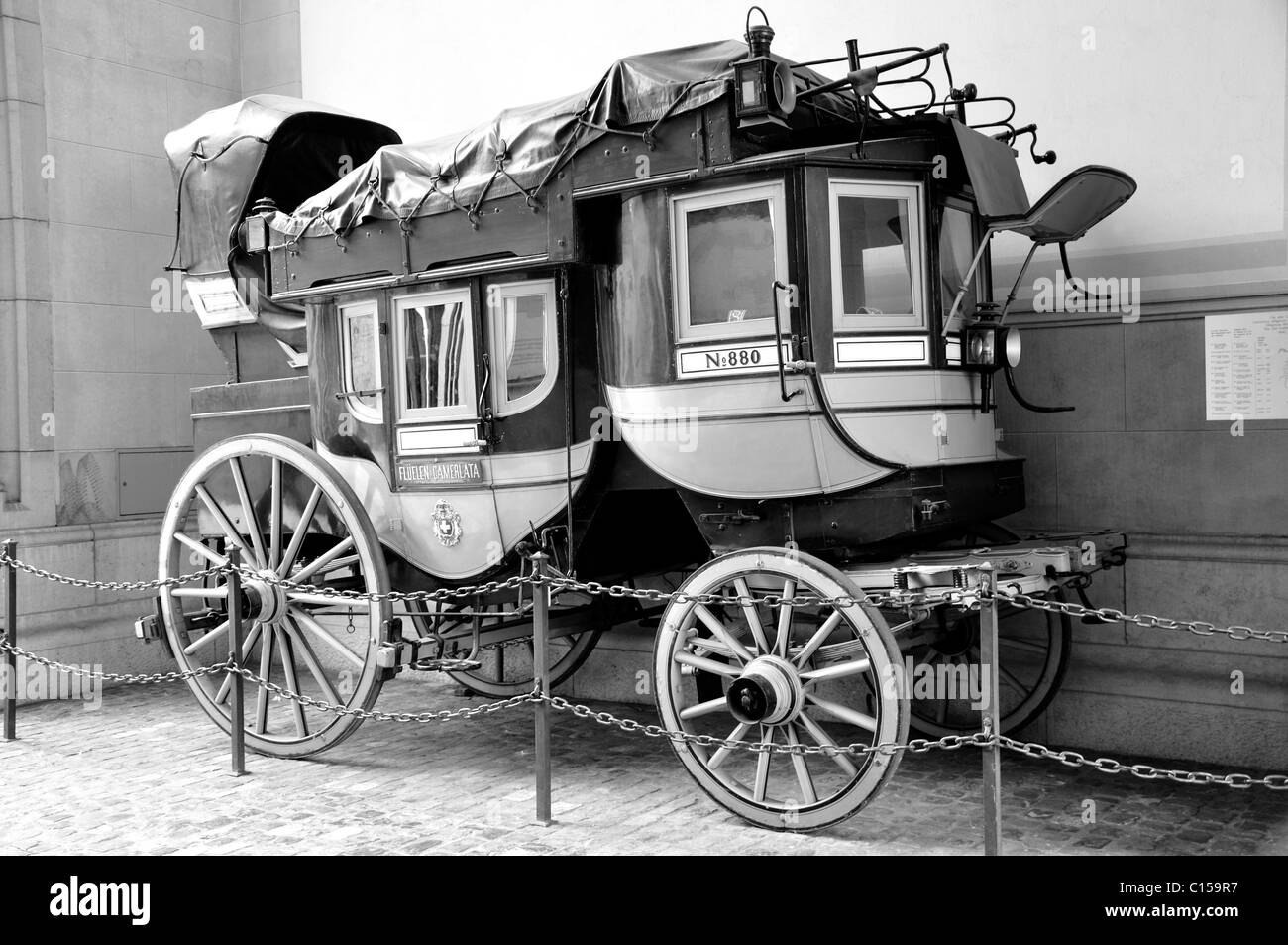 Mail carriage in Zurich, Switzerland - Stock Image
