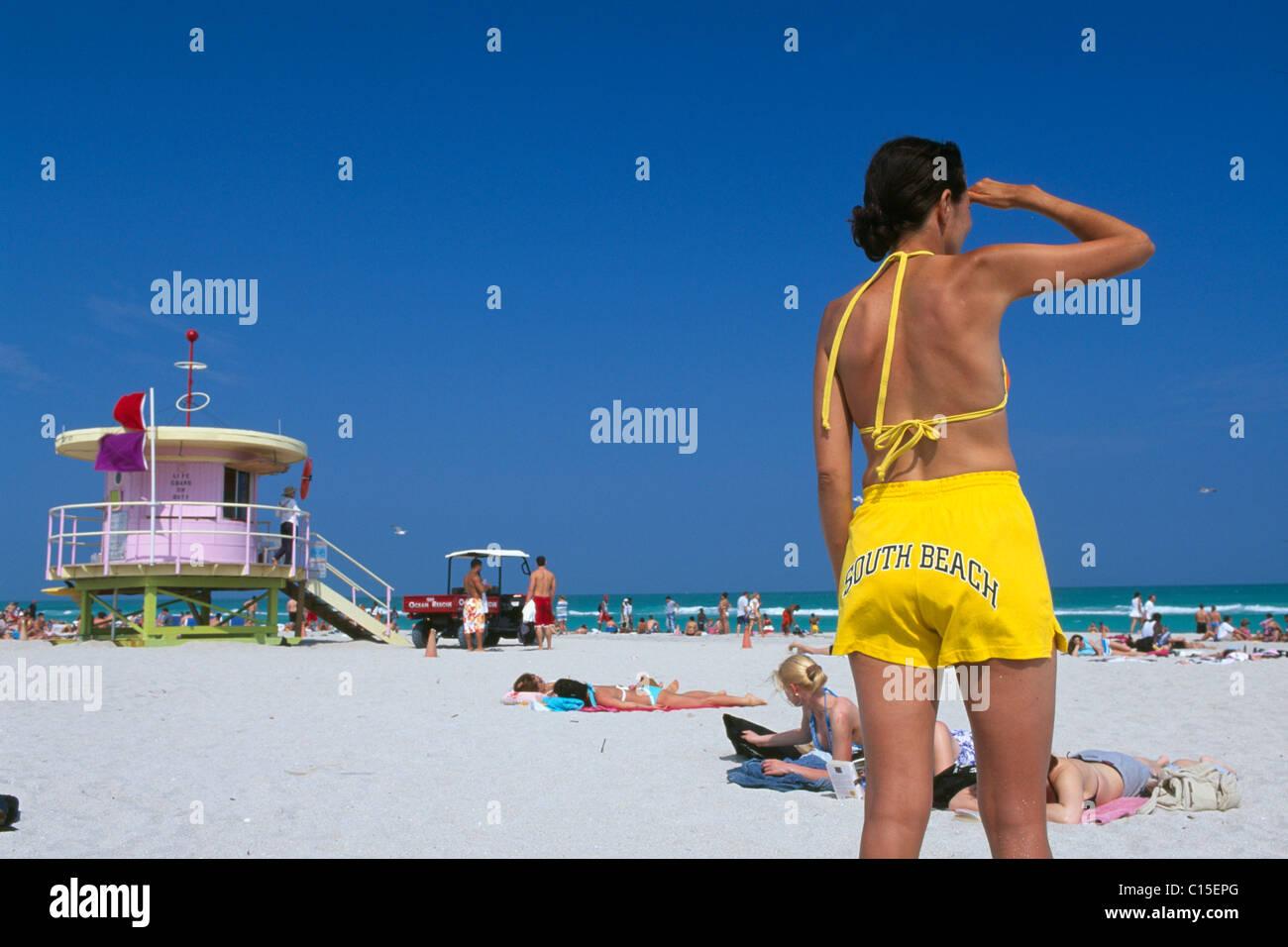 South Beach, Miami Beach, Miami, Florida, USA - Stock Image