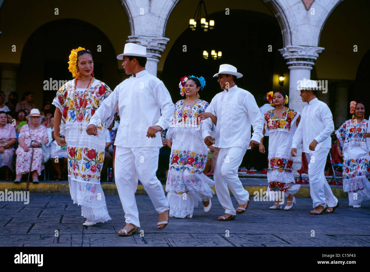 Vaqueria traditional dance, Merida, Yucatan, Mexico - Stock Image