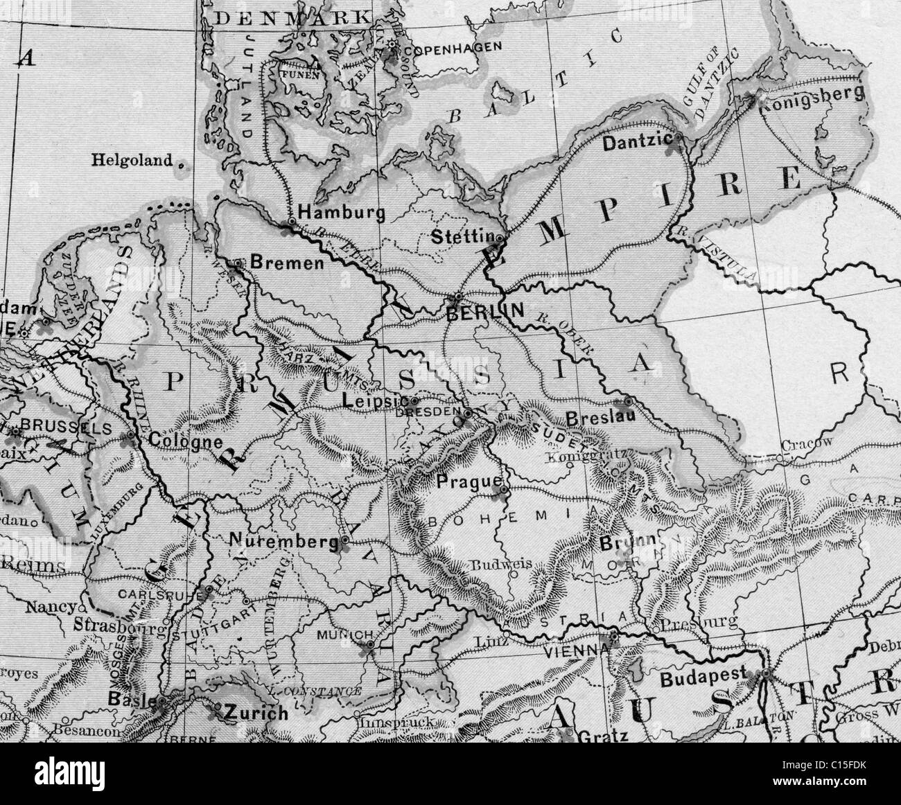 Germany German Empire Map Black And White Stock Photos Images Alamy