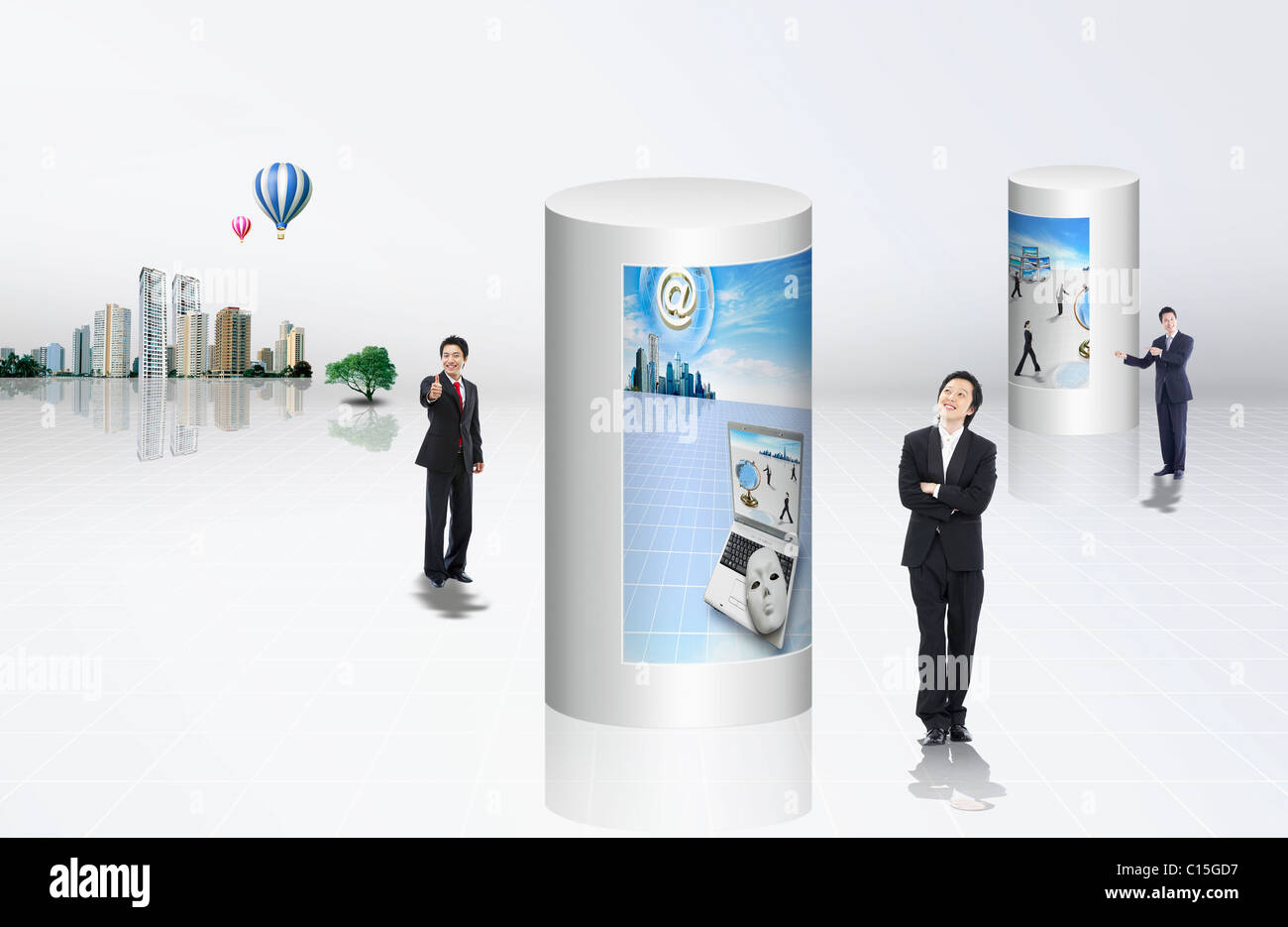 global business - Stock Image