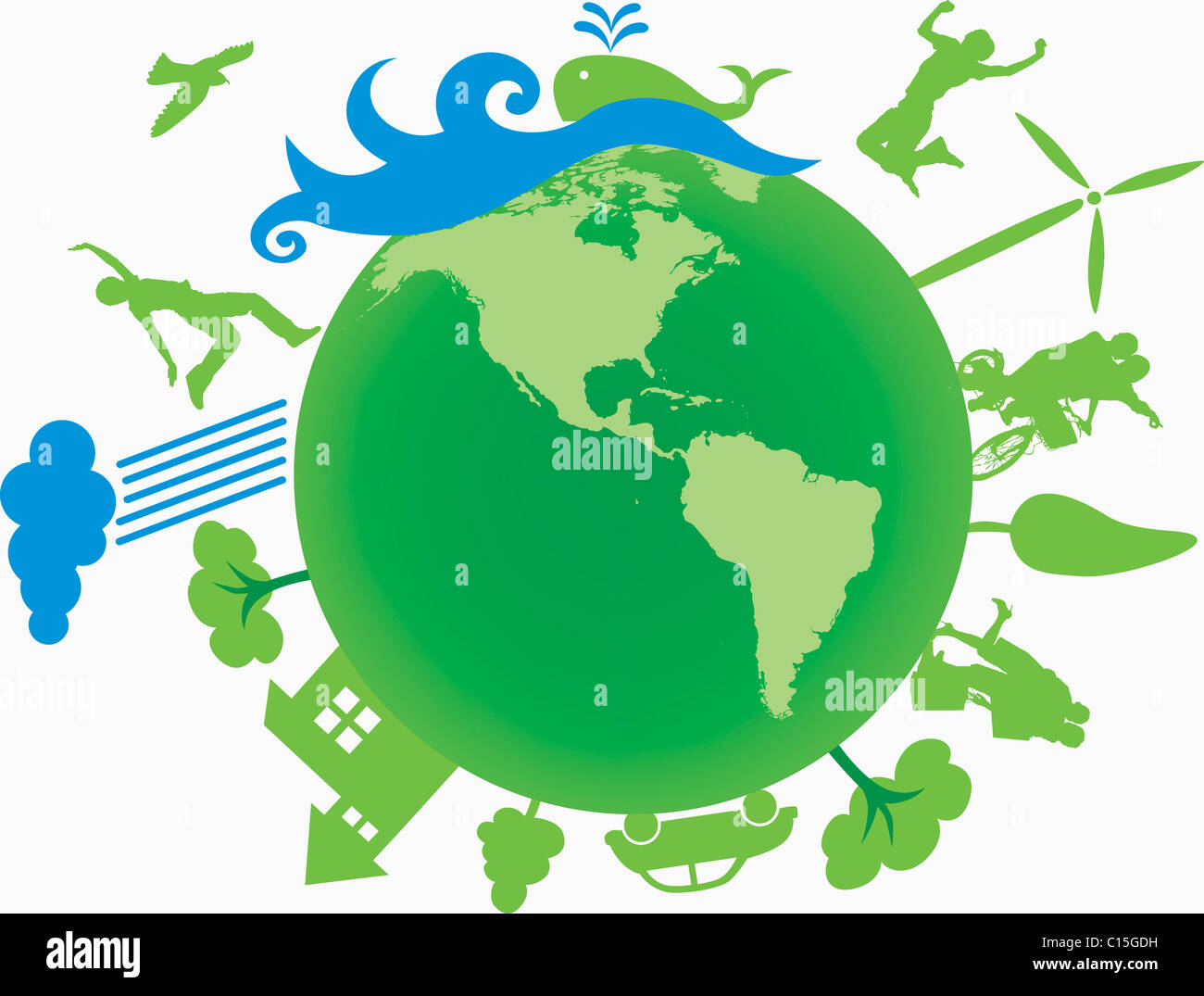 green earth eco friendly - Stock Image
