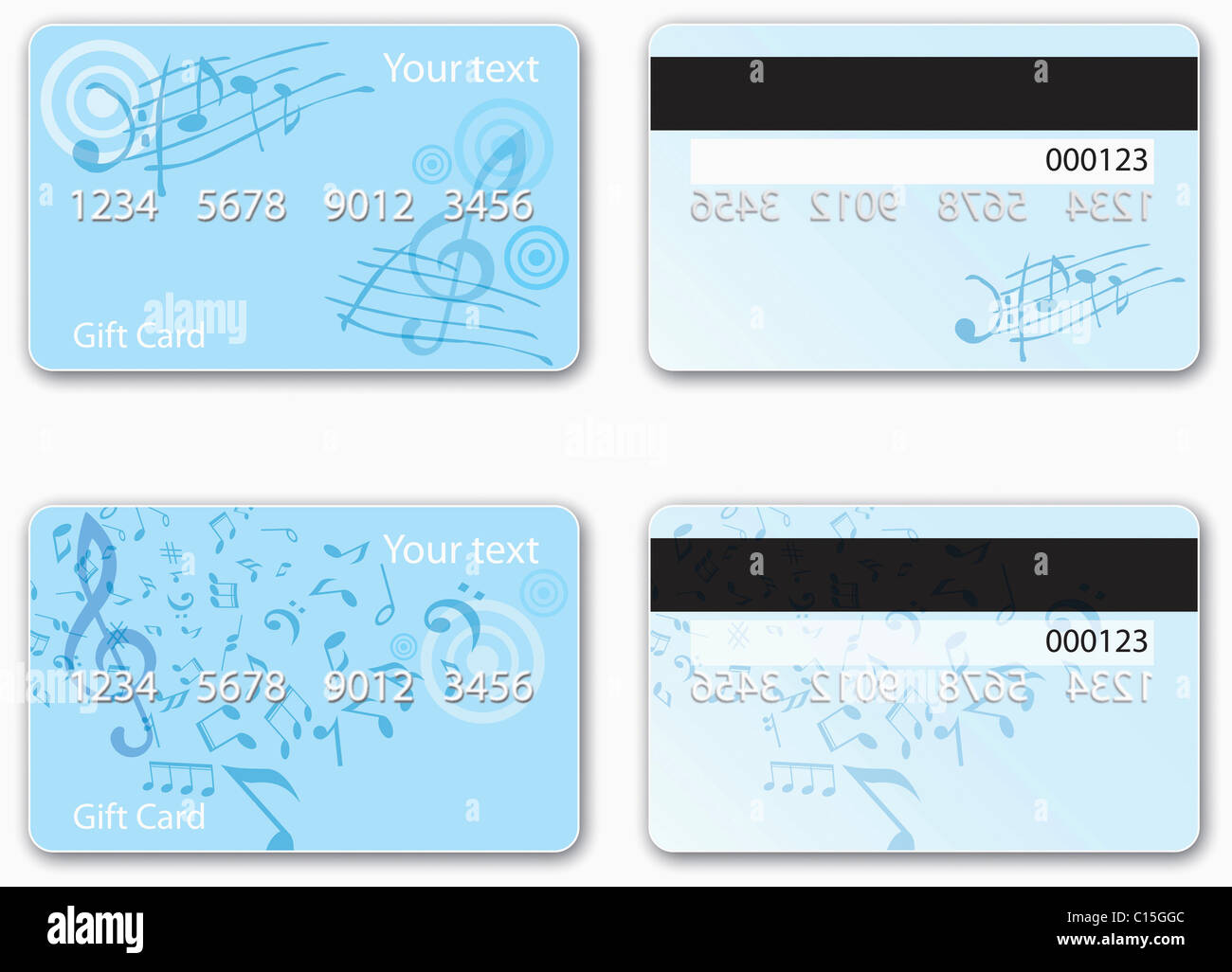 various types of credit card design - Stock Image