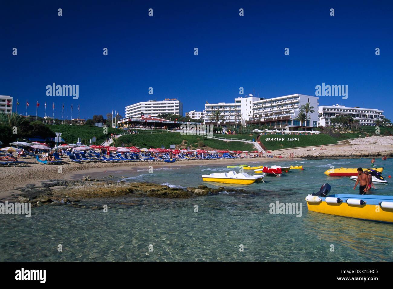 Grecian Sands Hotel, Agia Napa, Cyprus - Stock Image