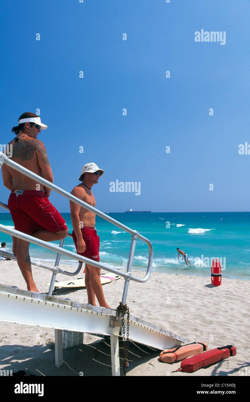 Lifeguards, Fort Lauderdale, Florida, USA Stock Photo
