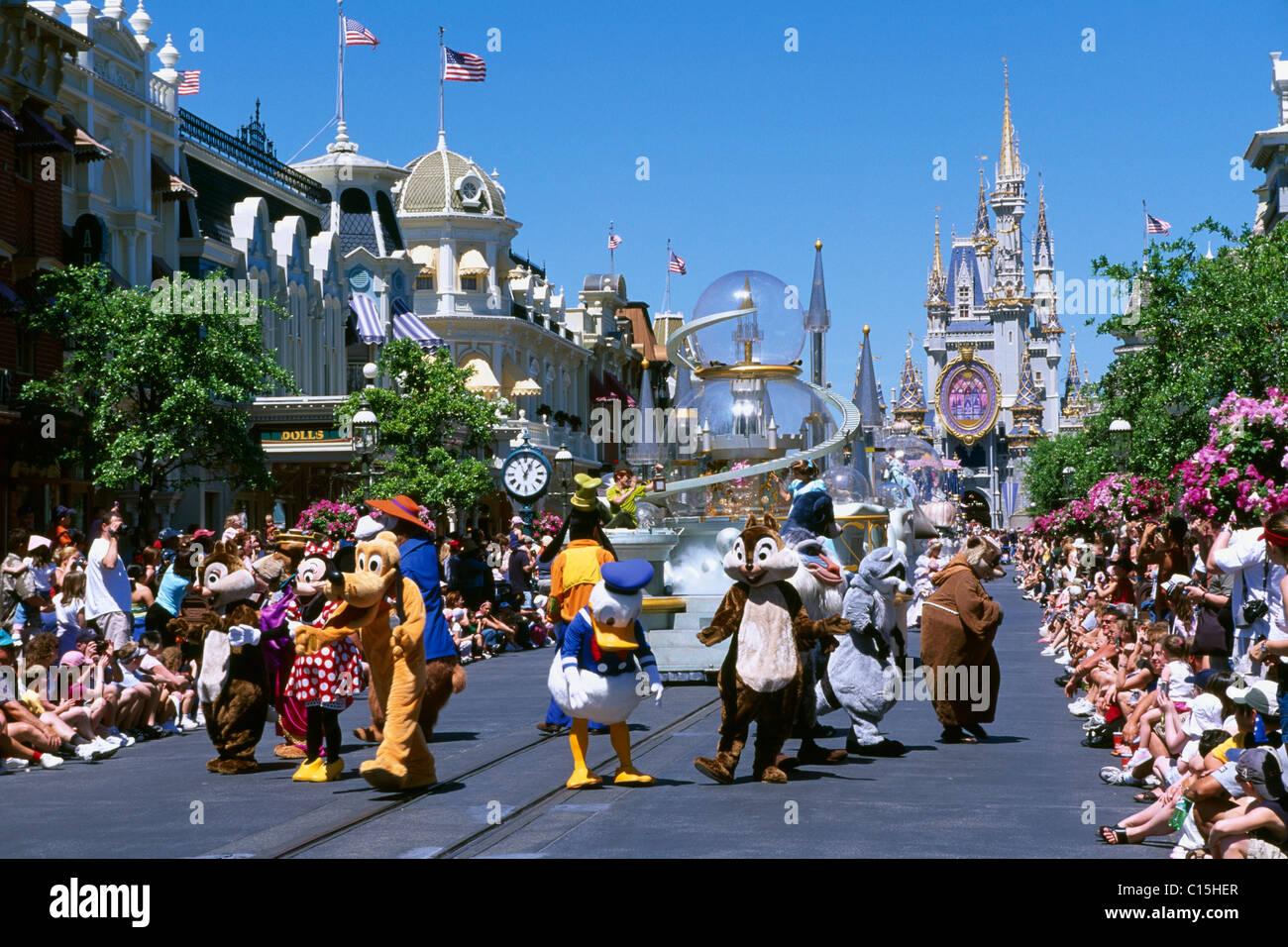Magic Kingdom, Disneyworld, Disney World, Orlando, Florida, USA Stock Photo