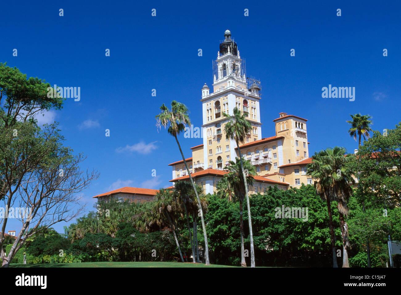 Biltmore Hotel, Coral Gables, Miami, Florida, USA - Stock Image