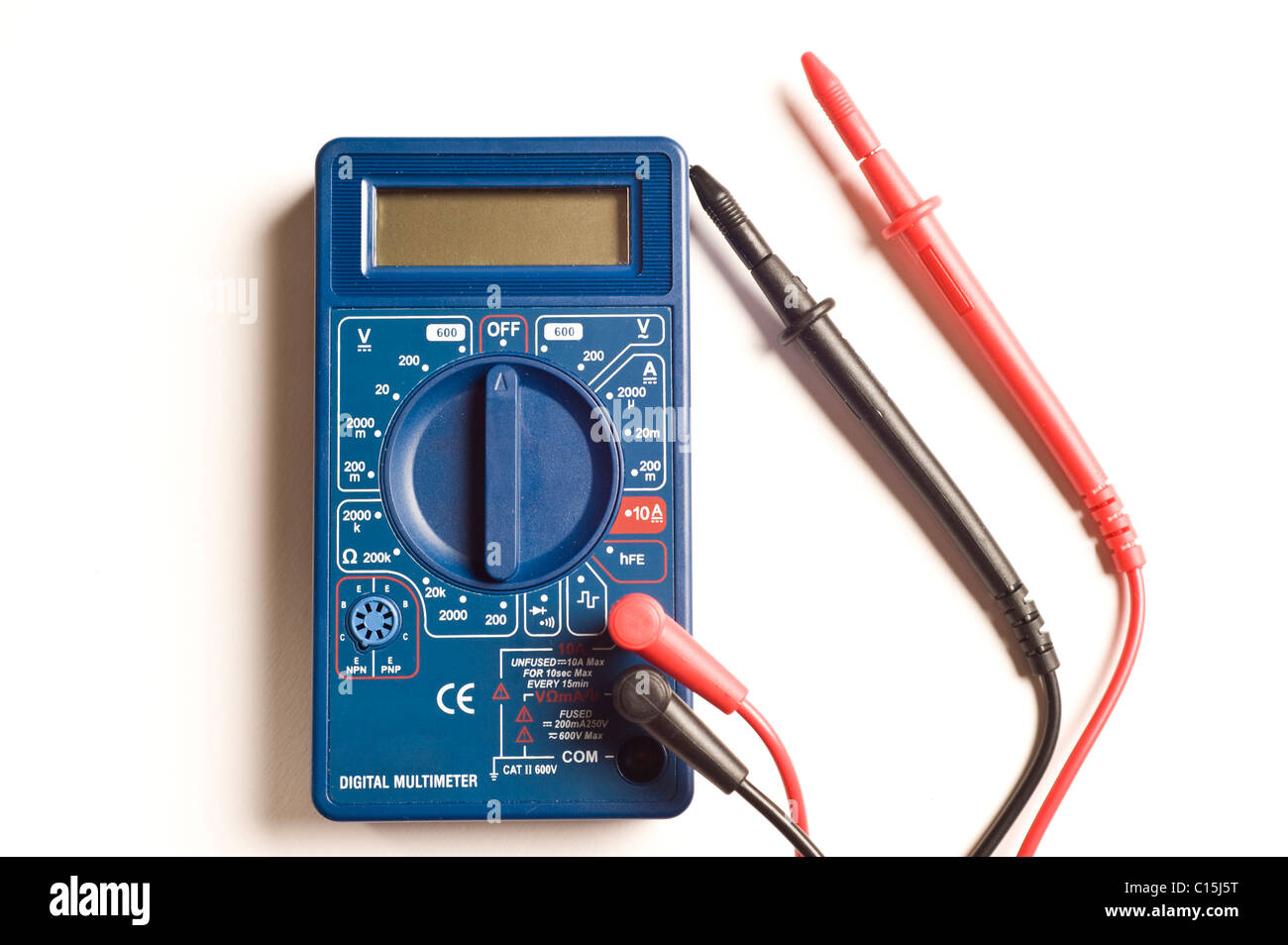digital multimeter isolated - Stock Image