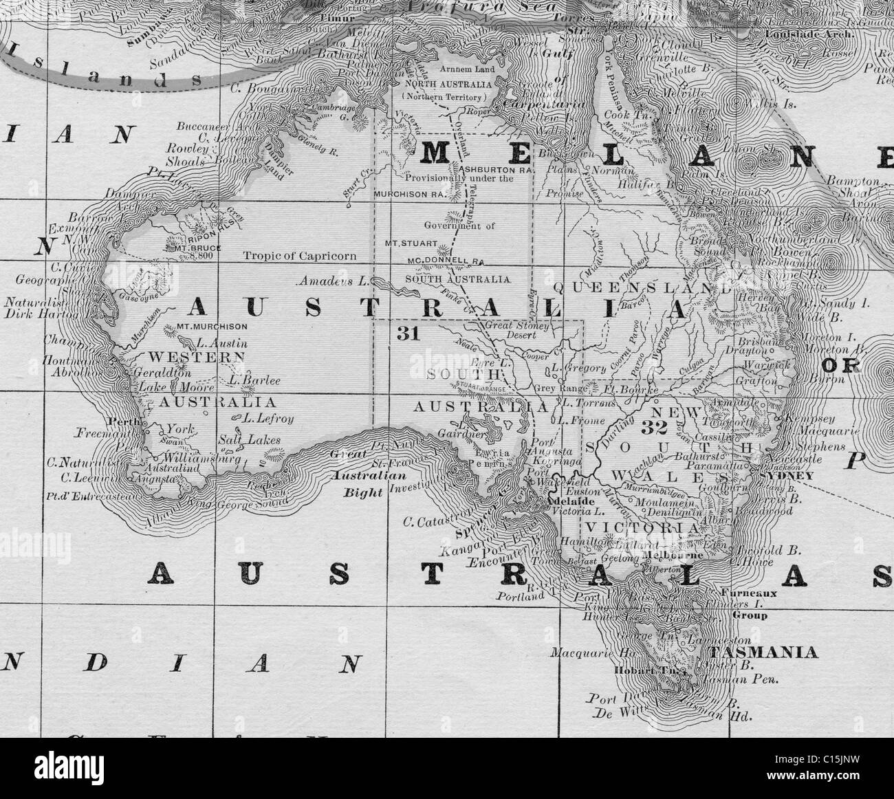 Australia Map Black And White.Map Of Australia Black And White Stock Photos Images Alamy