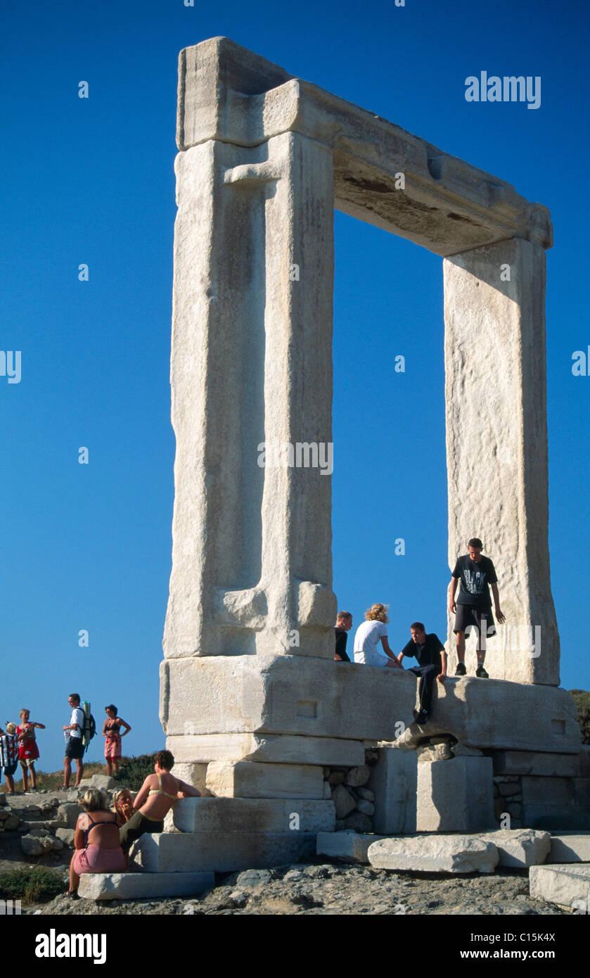 Temple of Apollo, Naxos, Cyclades Islands, Greece - Stock Image