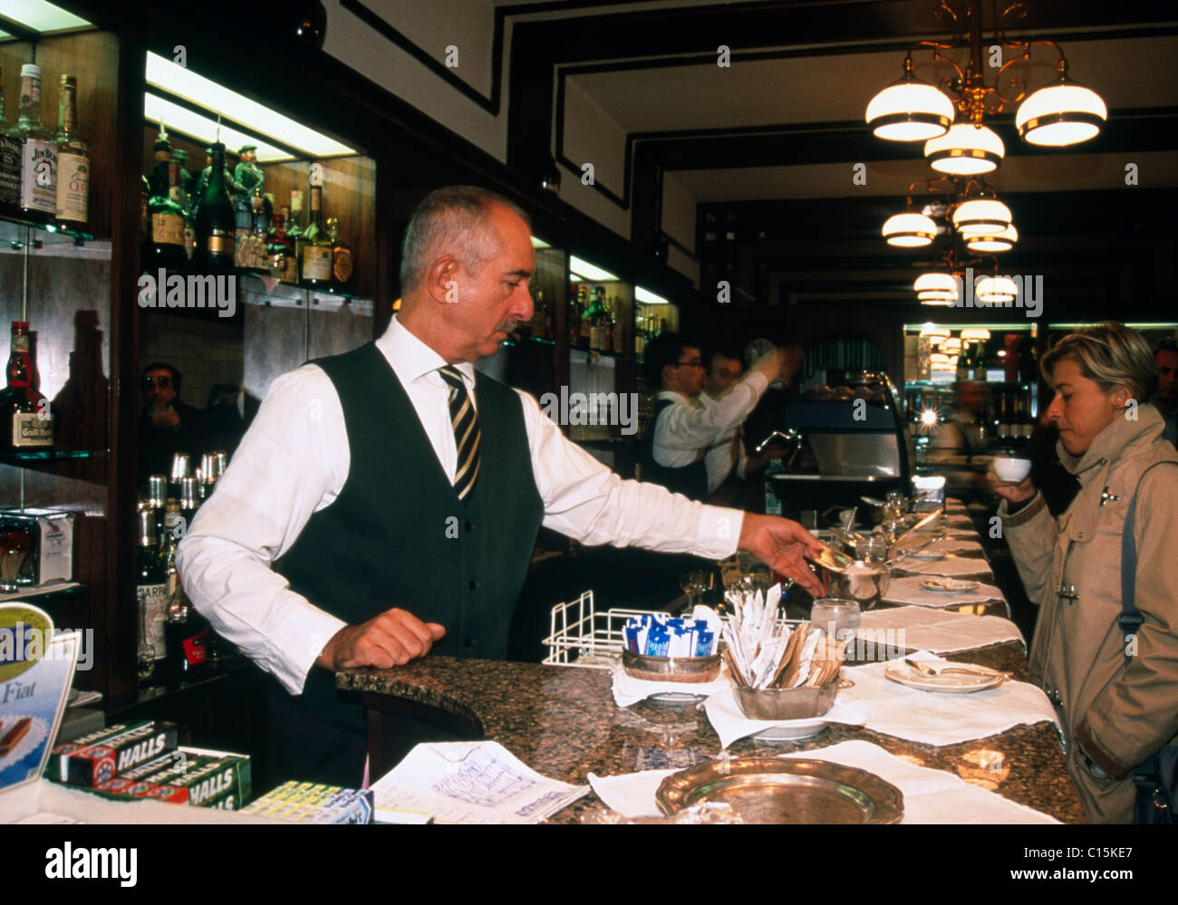 Bar, Bologna, Emilia-Romagna, Italy Stock Photo
