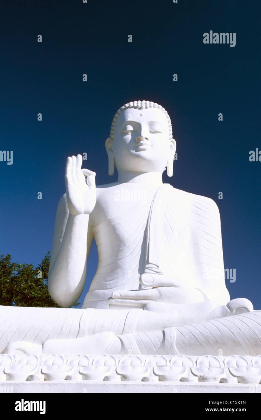 Statue of Buddha, Mihintale, Sri Lanka, South Asia Stock Photo