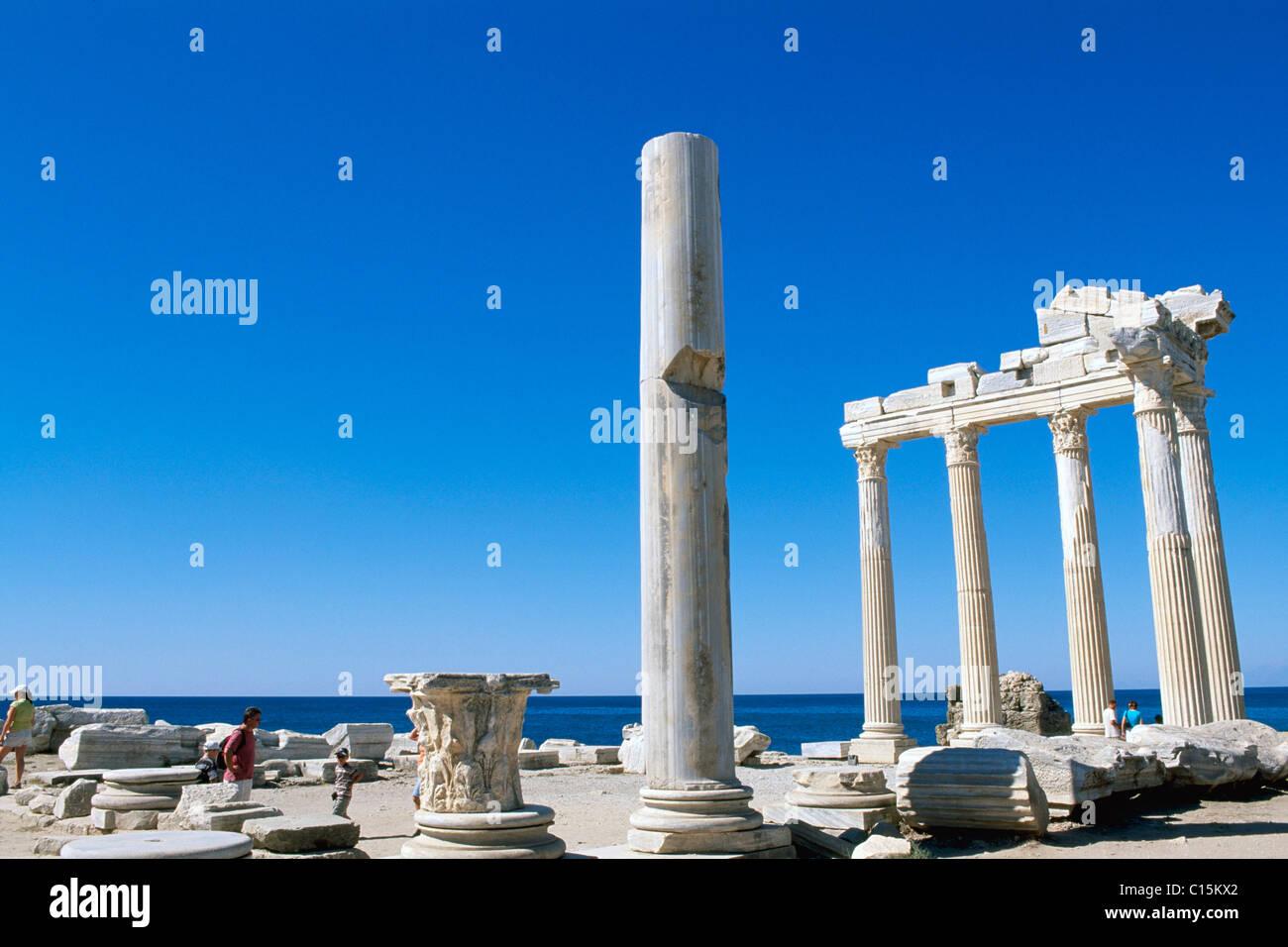 Temple of Apollo, Side, Turkish Riviera, Turkey - Stock Image