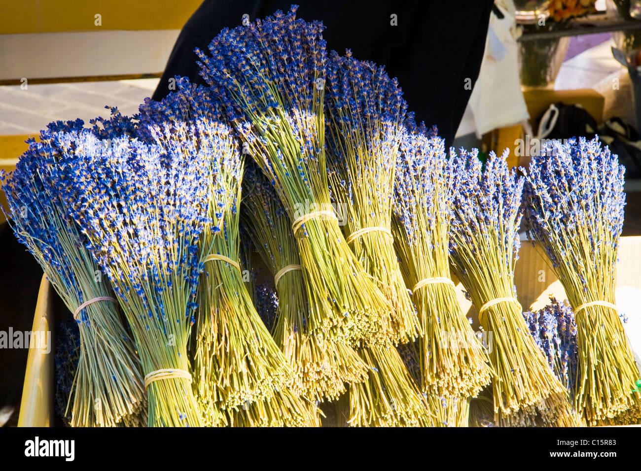 Lavender for sale, Nice, Cote d'Azur, France - Stock Image