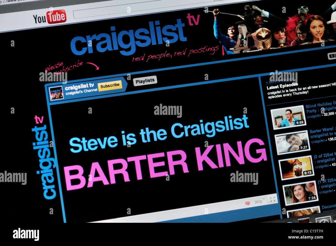Craigslist on YouTube website Stock Photo: 35164181 - Alamy